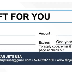 Fan Jets USA Gift Certificate