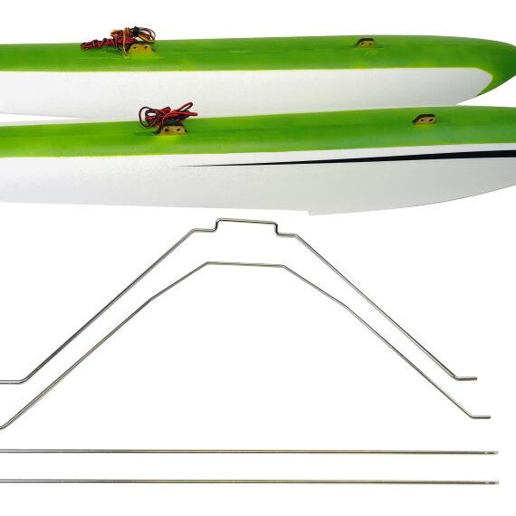 RV-8 FLOAT SET w STRUTS & LED – GREEN